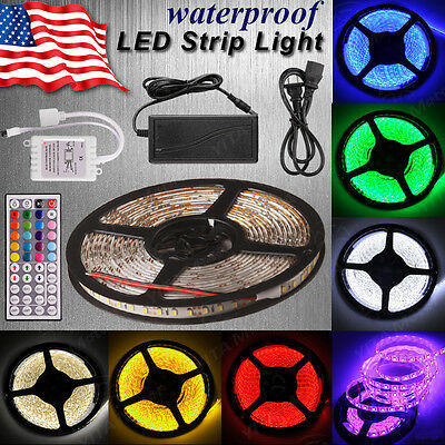 $13.99 • Buy Universal 16.4Ft LED Light Strip W/Remote Controller 5050/3528 Wateproof Tape