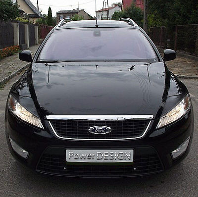Eyebrows For FORD MONDEO MK4 2007-2010  Headlight Eyelids Lids ABS Plastic • 34.56$