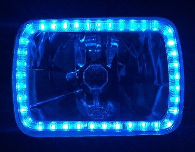 AU169.95 • Buy Ford F250 F350 Laser Courier Daihatsu Feroza Rocky BLUE Halo Angel Eye Headlight