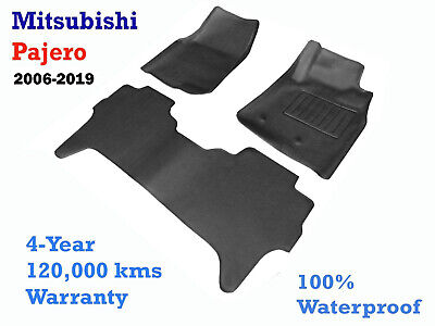 AU129 • Buy To Suit Mitsubishi NS NT NW NX Pajero Rubber Floor Mats