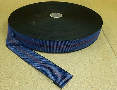 £8.99 • Buy 12 Metres - BLUE 2  Elasticated Upholstery Webbing For Chairs, Seats & Furniture