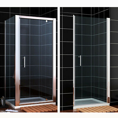 £91.99 • Buy Pivot Shower Door Enclosure And Tray Frameless Framed Hinge Cubicle Glass Screen