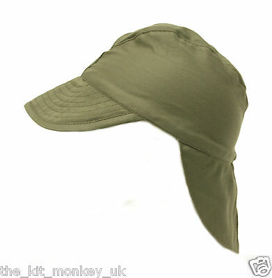 £4.99 • Buy French Army / Foreign Legion Combat Warm Weather Hat Green Satin Peaked Cap