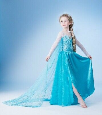 AU11.65 • Buy Girls Dress Costume Princess Queen Frozen Elsa Party Birthday Size 2-10 Years