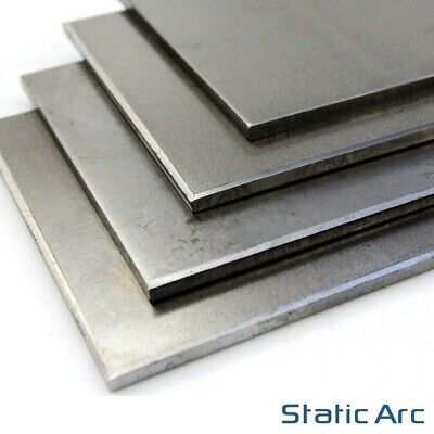 MILD STEEL SHEET METAL SQUARE PLATE 0.8/1/1.2/1.5/2/3/4/5mm THICK CUT SIZES • 5.99£
