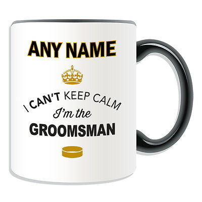 £7.76 • Buy Personalised Gift Can't Keep Calm I'm The Groomsman Mug Money Box Cup Novelty