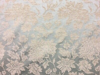 Quality Floral Duck Egg Blue Green Damask Upholstery Curtain Fabric Material ! • 12.50£