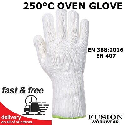 Oven Glove, Professional Catering,heat Proof, High Temp 250 Degree Centigrade  • 11.95£