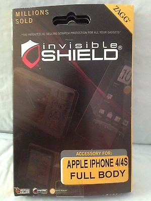 £6.51 • Buy New Zagg Invisible Shield For Apple IPhone 4 FULL BODY