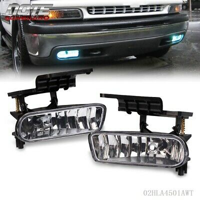 $19.59 • Buy For 00-06 Chevy Suburban/ Tahoe Clear Bumper Fog Lights Driving Lamps