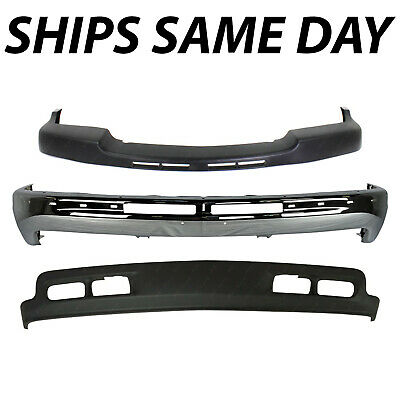 $300.99 • Buy NEW Steel - Chrome Front Bumper Kit For 1999-2002 Chevy Silverado 2500HD 3500