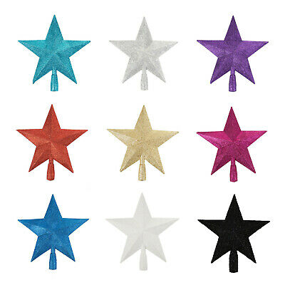 3D Glitter Star Christmas Tree Topper Decoration In Gold Black White Purple Pink • 5.99£