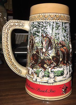 $ CDN34.44 • Buy 1987 Budweiser Holiday Stein~Limited Edition~Collector Series  C  Made In Brazil
