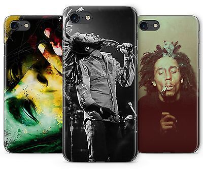 Bob Marley Raggie Music Rasta Rubber Plastic Phone Cover Case Fits Apple IPhone • 5.99£