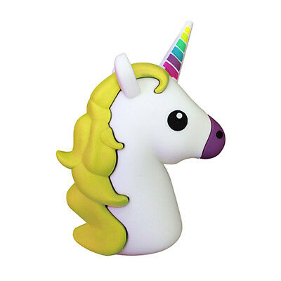 Yellow Unicorn Emoji Portable Charger Power Bank Android Tablet IPhone Gift Her • 7.99£