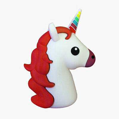 White Unicorn Emoji 2600mAh Portable Charger Power Bank Android Tablet IPhone • 7.99£
