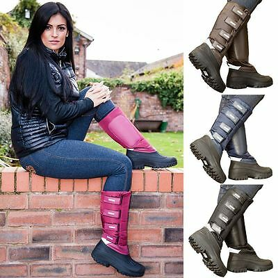 NEW Ladies Fleece Lined Snow Rain Long Dog Walking Country Wellies Mucker Boots • 24.99£