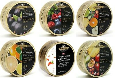 Simpkins Travel Sweets 200g Tin **PICK AND MIX ANY 3** Choose From 6 Varieties • 7.99£