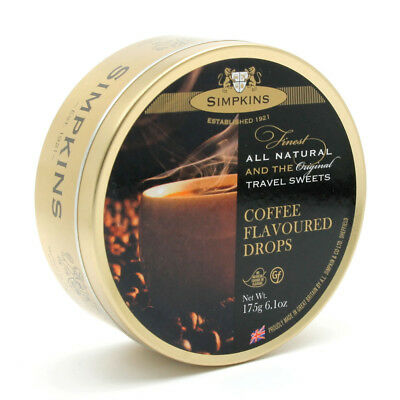 Simpkins Travel Sweets - Coffee Flavoured 200g Tin • 1.99£