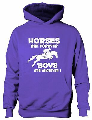 Horses Are Forever Horse Pony Riding Girls Funny Hoodie Ages 1-13 Yrs • 14.99£