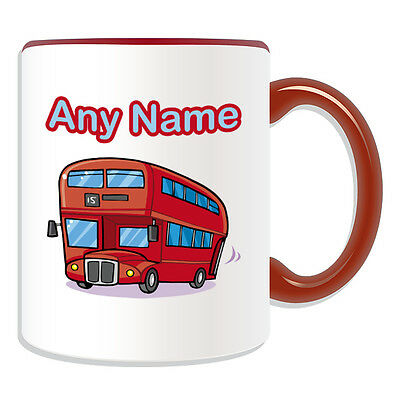 £7.76 • Buy Personalised Gift London Bus Mug Money Box Cup Transport Design Theme Red Cute