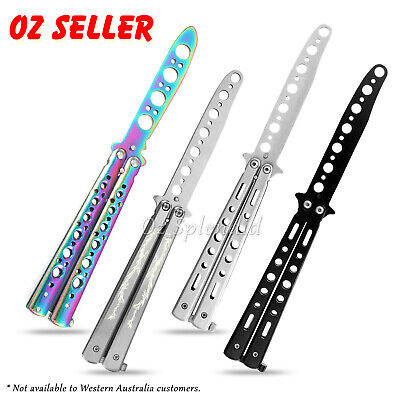 AU13.45 • Buy CSGO Rainbow Dragon Butterfly Knife Metal Folding Practice Trainer Training Tool