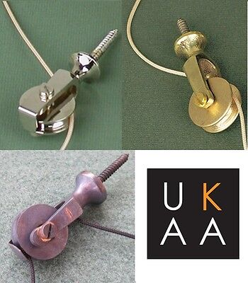 Traditional Servants Extension Bell Pulley Victorian Design Antique Style UKAA • 22£