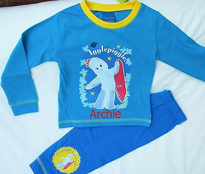 Personalised Iggle Piggle Night Garden Pyjamas Age 3 - 4 Years With A Name • 7.50£