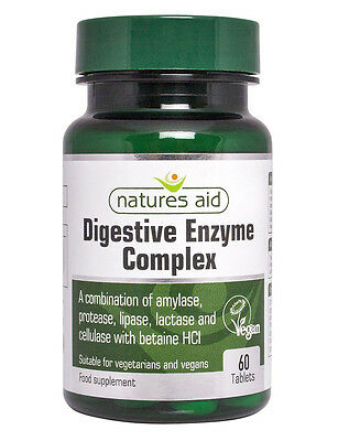 £9.99 • Buy Natures Aid Digestive Enzyme Complex 60 Tablets - With Betaine HCl & Lactase