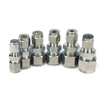 Tube O/D 3-16mm 304 Stainless Steel Reducer Compression Fittings Tube Connectors • 4.58£