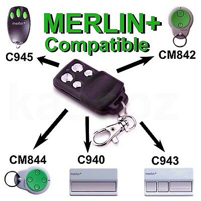 AU12.99 • Buy Merlin+ Garage Remote Control Bearclaw Replacement C945 C943 C940 Cm842 Cm844