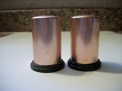 Vintage Copper Colored Aluminum Salt & Pepper Shakers Screw Bottoms Retro • 9.99$
