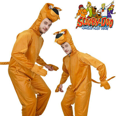 AU41.99 • Buy Mens Scooby Doo 80s Cartoon Adults Deluxe Dog Fancy Dress Animal Costume Outfit