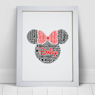 Personalised Minnie Mouse Print Disney Gift Birthday Gifts For Her Girls Women • 5.49£