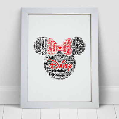 Personalised Minnie Mouse Print Disney Gift Birthday Christmas Gifts For Her • 5.99£