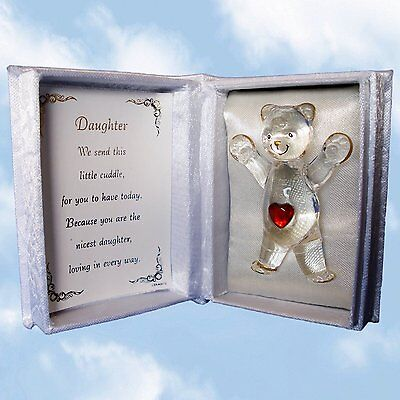 A Cuddle For You. Cuddle Box With Glass Teddy. Gift For Daughter - Teddy Bear • 7.99£