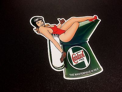 £2.75 • Buy CASTROL WAKEFIELD Oil Can & Model Classic Retro Decal Sticker 1 Off 95mm