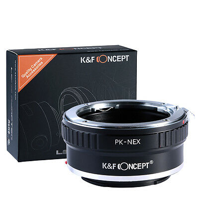 AU23.95 • Buy K&F Concept Adapter For Pentax K Mount Lens To Sony E Mount NEX  A5000 A7II A7R