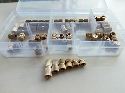 $13.99 • Buy 60pcs M4 Blind Hole Knurled Brass Nuts Single Pass Injection Molde Nut Sleeves