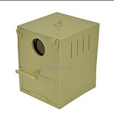 £7.95 • Buy Budgie Nest Box Plastic With Perch And Hooks To Front & Rear For Aviary / Cages