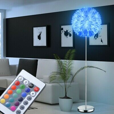RGB LED Floor Lamp 9 Watt Kitchens Standing Flowers Dimmer Lamp Remote Control • 99.82£