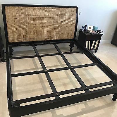 $999 • Buy Complete Bed Frame, Headboard (mahogany Stain) + Mattress King Size