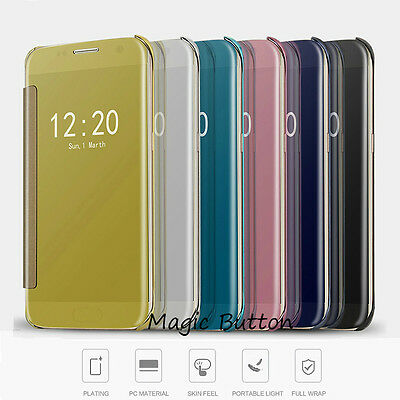 AU9.99 • Buy Slim Thin Luxury Mirror Flip Case Cover For Samsung Galaxy S8 Plus S7 S6 Edge