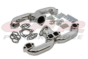 $246.39 • Buy Exhaust CERAMIC Steel Manifold  Set Chevy Ram RAMS Horns Header CHEVY