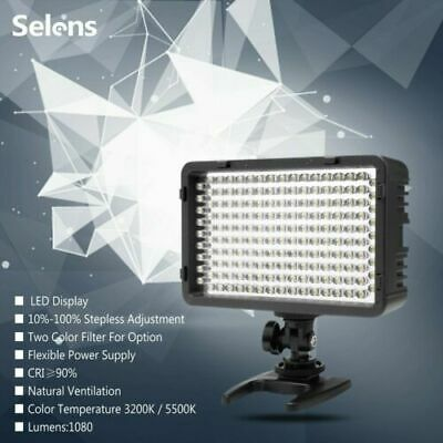 Video Photography Lighting 168 LED Panel Studio Light For Canon Nikon Camera UK • 25.99£