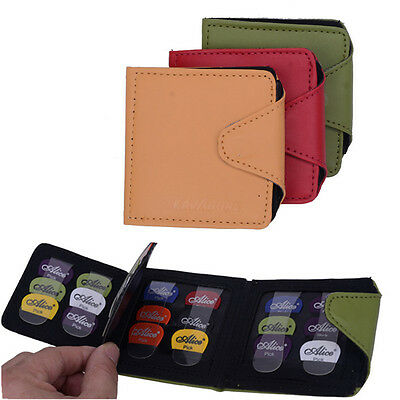 $ CDN14.80 • Buy Guitar Bass Pick Wallet Plectrum Holder Bag Portable Durable With 24pcs Picks