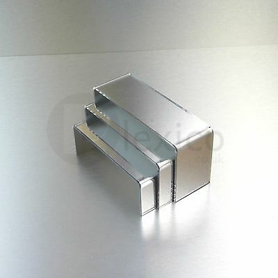 Mirrored Small Nesting Plinths/  Acrylic Riser Counter / Jewellery Display Stand • 12.99£