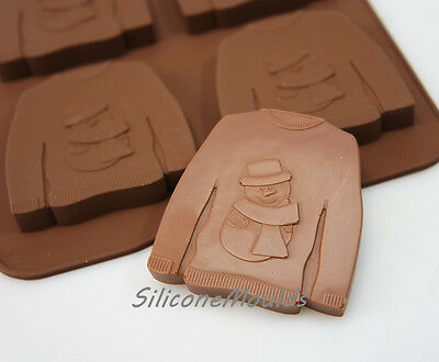 Ugly Christmas Jumper Chocolate Candy Silicone Bakeware Mould Cookie Soap Wax • 4.99£