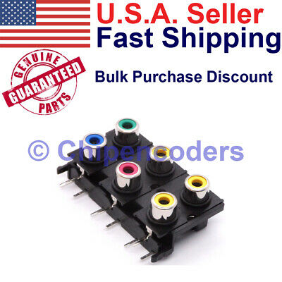 $4.49 • Buy 6-in-1 RCA Audio Video Jack 2x3 Right Angle PCB Circuit Board Mount Connector