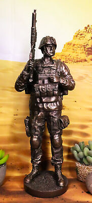 $77.99 • Buy Modern Military Commando Soldier Statue Desert Army Tactician On Guard Figurine